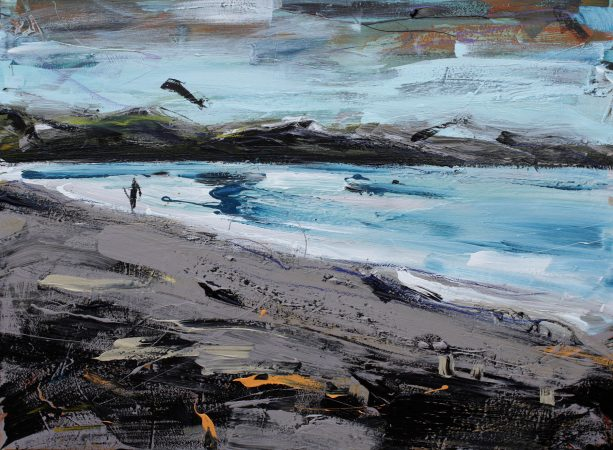 Last One Out of the Surf painting Christian Nicolson
