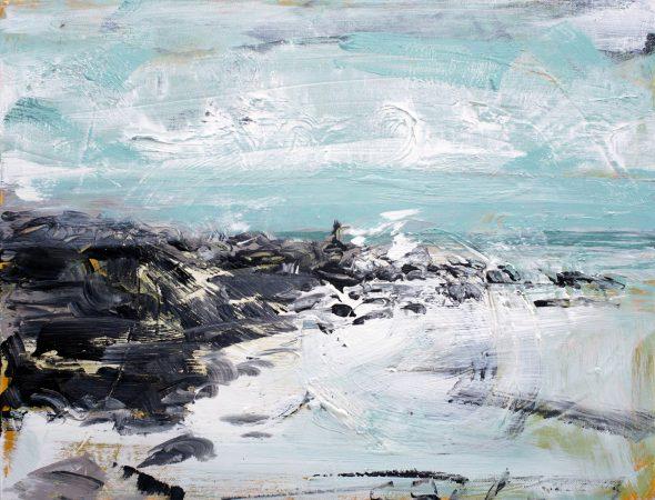 Rough Day at Raglan painting Christian Nicolson