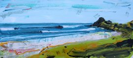 Te Arai Going Off painting Christian Nicolson