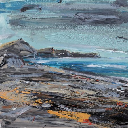 The Rugged Rocks of Tora painting Christian Nicolson