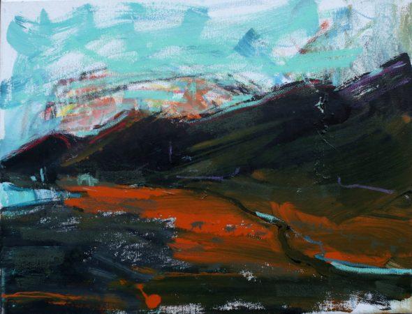 Tora Hills painting by Christian Nicolson