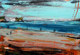 Waiake Beach painting Christian Nicolson