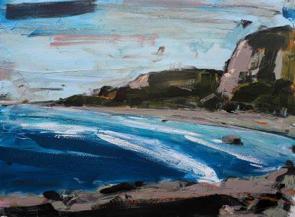 Punakaiki Coastline Landscape painting by Christian Nicolson